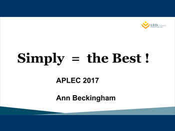 Ann-Beckingham-Simply-the-best-APLEC-2017