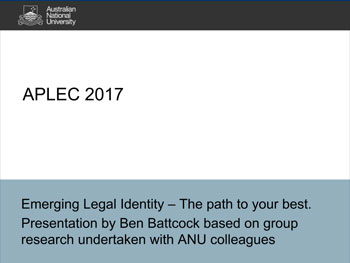 Ben-Battcock-Emerging-Legal-Identity-APLEC-2017